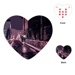 Texture Abstract Background City Playing Cards (heart)