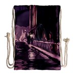 Texture Abstract Background City Drawstring Bag (Large) Back