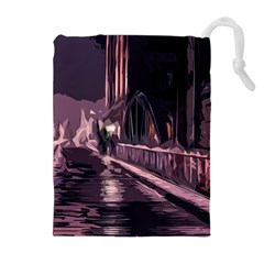 Texture Abstract Background City Drawstring Pouches (extra Large) by Nexatart
