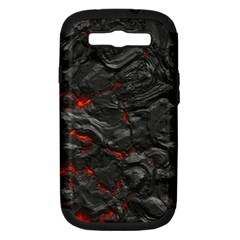 Rock Volcanic Hot Lava Burn Boil Samsung Galaxy S Iii Hardshell Case (pc+silicone)