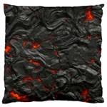 Rock Volcanic Hot Lava Burn Boil Large Flano Cushion Case (Two Sides) Front
