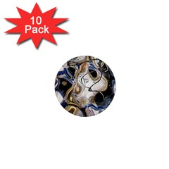 Time Abstract Dali Symbol Warp 1  Mini Magnet (10 Pack)