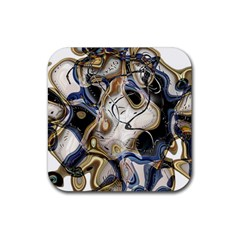 Time Abstract Dali Symbol Warp Rubber Coaster (square)