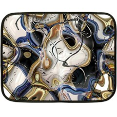 Time Abstract Dali Symbol Warp Double Sided Fleece Blanket (mini)  by Nexatart