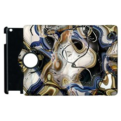 Time Abstract Dali Symbol Warp Apple Ipad 3/4 Flip 360 Case