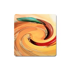 Spiral Abstract Colorful Edited Square Magnet