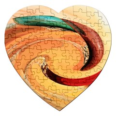Spiral Abstract Colorful Edited Jigsaw Puzzle (heart) by Nexatart