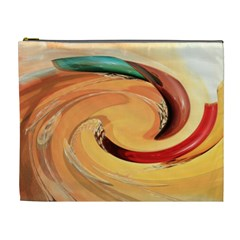 Spiral Abstract Colorful Edited Cosmetic Bag (xl)