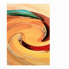 Spiral Abstract Colorful Edited Small Garden Flag (two Sides) by Nexatart