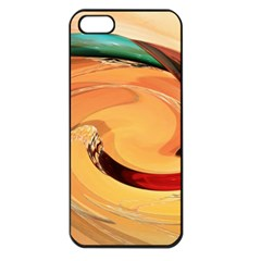 Spiral Abstract Colorful Edited Apple Iphone 5 Seamless Case (black)