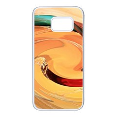 Spiral Abstract Colorful Edited Samsung Galaxy S7 White Seamless Case