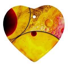 Abstract Water Oil Macro Heart Ornament (two Sides)