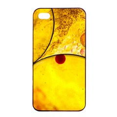 Abstract Water Oil Macro Apple Iphone 4/4s Seamless Case (black) by Nexatart