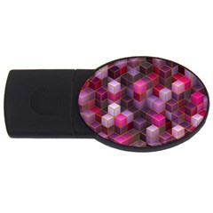 Cube Surface Texture Background Usb Flash Drive Oval (4 Gb) by Nexatart