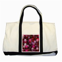 Cube Surface Texture Background Two Tone Tote Bag