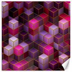 Cube Surface Texture Background Canvas 16  X 16