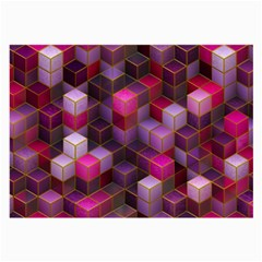 Cube Surface Texture Background Large Glasses Cloth (2 Side)