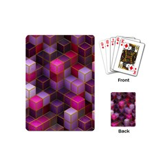 Cube Surface Texture Background Playing Cards (mini)  by Nexatart