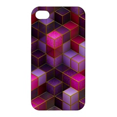 Cube Surface Texture Background Apple Iphone 4/4s Premium Hardshell Case