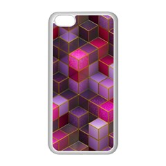 Cube Surface Texture Background Apple Iphone 5c Seamless Case (white)