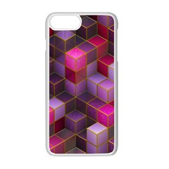 Cube Surface Texture Background Apple Iphone 7 Plus Seamless Case (white)