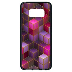 Cube Surface Texture Background Samsung Galaxy S8 Black Seamless Case