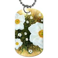 Summer Anemone Sylvestris Dog Tag (two Sides) by Nexatart