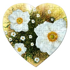 Summer Anemone Sylvestris Jigsaw Puzzle (heart)