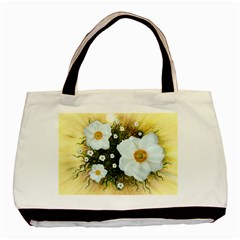 Summer Anemone Sylvestris Basic Tote Bag (two Sides) by Nexatart
