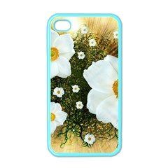 Summer Anemone Sylvestris Apple Iphone 4 Case (color) by Nexatart