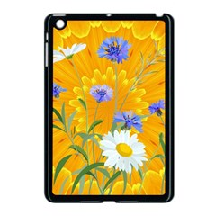 Flowers Daisy Floral Yellow Blue Apple Ipad Mini Case (black) by Nexatart