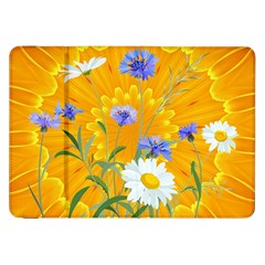 Flowers Daisy Floral Yellow Blue Samsung Galaxy Tab 8 9  P7300 Flip Case by Nexatart
