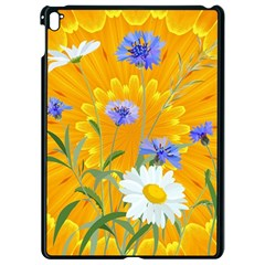 Flowers Daisy Floral Yellow Blue Apple Ipad Pro 9 7   Black Seamless Case by Nexatart