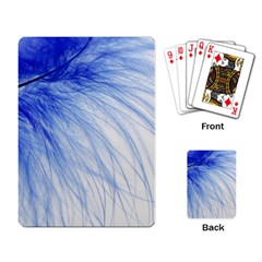 Feather Blue Colored Playing Card by Nexatart