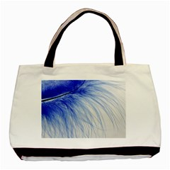 Feather Blue Colored Basic Tote Bag (two Sides)
