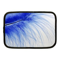 Feather Blue Colored Netbook Case (medium)