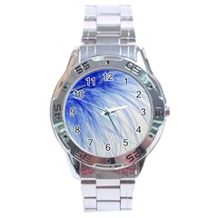 Feather Blue Colored Stainless Steel Analogue Watch by Nexatart