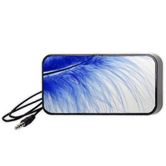 Feather Blue Colored Portable Speaker by Nexatart