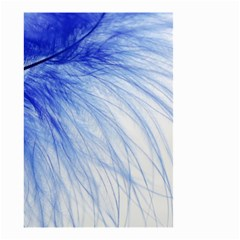 Feather Blue Colored Small Garden Flag (two Sides) by Nexatart