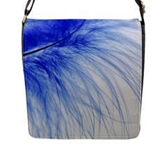 Feather Blue Colored Flap Messenger Bag (l)  by Nexatart
