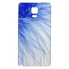 Feather Blue Colored Galaxy Note 4 Back Case