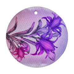 Flowers Flower Purple Flower Round Ornament (two Sides)