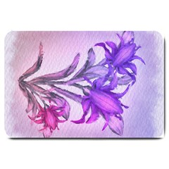 Flowers Flower Purple Flower Large Doormat