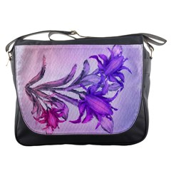 Flowers Flower Purple Flower Messenger Bags