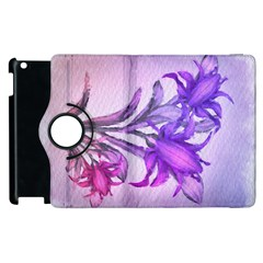 Flowers Flower Purple Flower Apple Ipad 3/4 Flip 360 Case by Nexatart