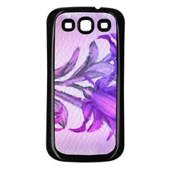 Flowers Flower Purple Flower Samsung Galaxy S3 Back Case (black)