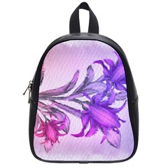 Flowers Flower Purple Flower School Bag (small)