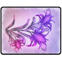 Flowers Flower Purple Flower Fleece Blanket (medium)