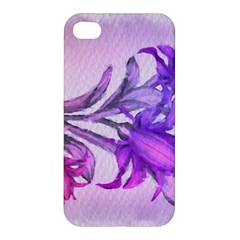 Flowers Flower Purple Flower Apple Iphone 4/4s Premium Hardshell Case