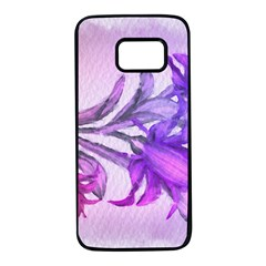 Flowers Flower Purple Flower Samsung Galaxy S7 Black Seamless Case by Nexatart